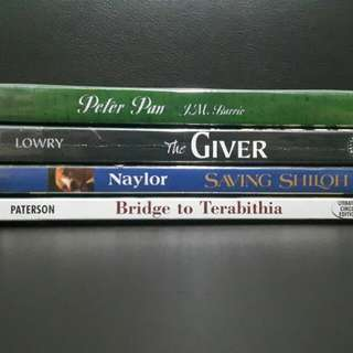 Asstd Books (The Giver; Saving Shiloh; Bridge to Terabithia)