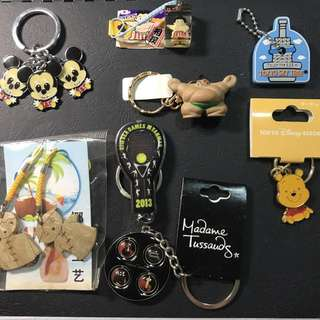 Assorted Keychains Keychain and Badges