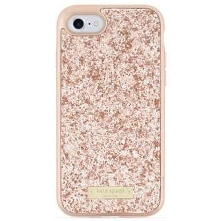 LIMITED EDITION Kate Spade Rose Gold Glitter iPhone case 6/7/8 plus with Bumper BNWT
