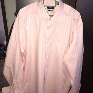 Hugo Boss Pink Long Sleeve shirt cuff link