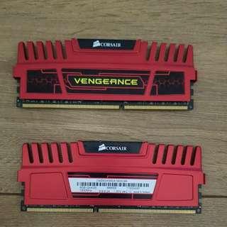Corsair vengeance 2x4GB DDR 3 ram
