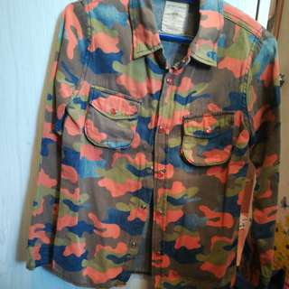 Korea boys Cotton camouflage Shirt