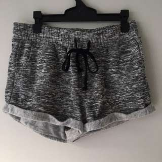 Grey flowy shorts