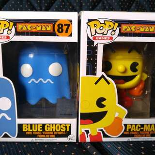 Pac-Man and Blue Ghost (Set)