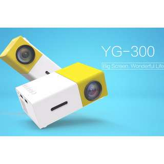 Original YG300 HD LED Portable Projector 500LM HDMI USB Mini YG-300 Projector Home Media Player