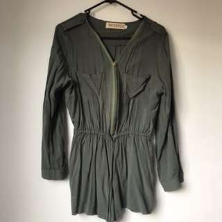 Reverse Khaki Jumpsuit/Playsuit
