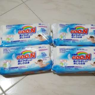 4 packs Goon baby wipes made in Japan