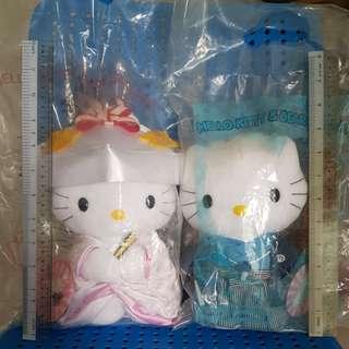 Hello Kitty Plush Toys (Japanese Wedding Couple)