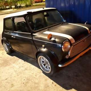 Classic mini cooper (MT) airbag black engine