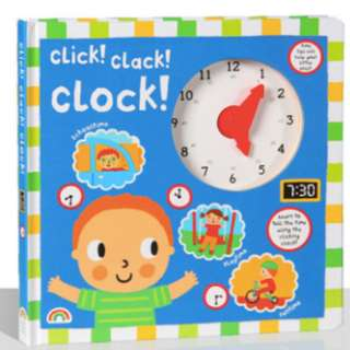 [12.12 promo: 12% off]FREE DELIVERY★ Click Clack Clock Board Book