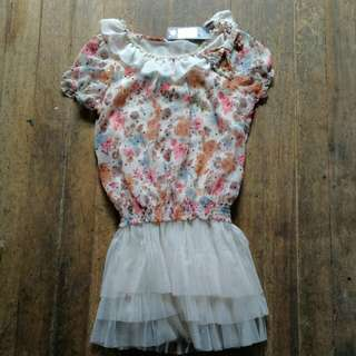 Blouse with Tutu Skirt