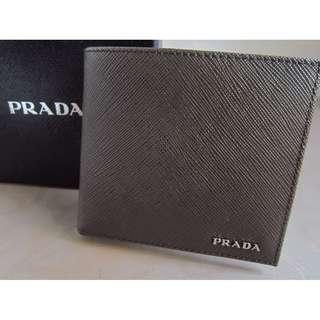 <BNIB> Authentic Classic Prada Saffiano Wallet for Men (Brown)