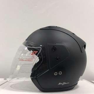 Trax Moto RR (Matt Black) Half Face Helmet