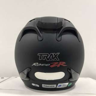 Trax Race ZR (Matt Black) Half Face Helmet