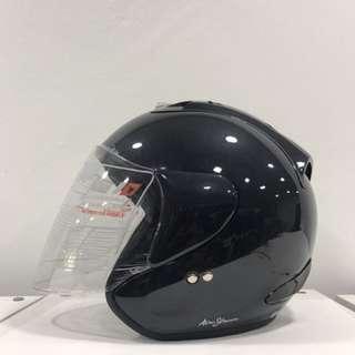 Trax Race ZR (Gunmetal Grey) Half Face Helmet