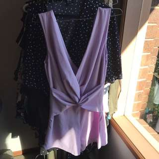 Tigermist Lilac playsuit