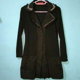 Black Long Sleeves Sequined