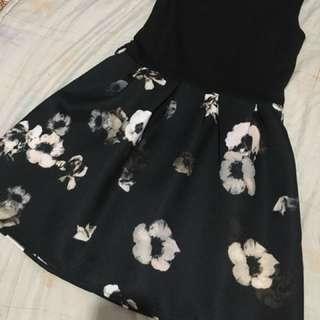 Black floral sunday dress
