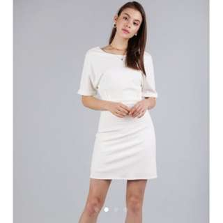 Looking for Cornelia Cuff Sleeve Dress (Off White)