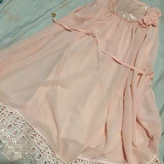 Formal pink dress
