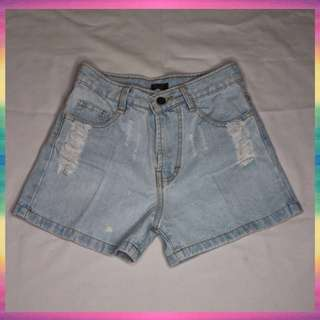 Blue Hot Pants Jeans