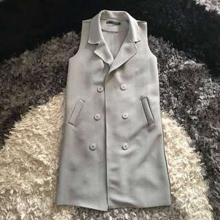 Long Vest Grey