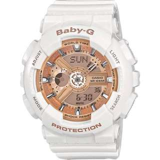 Casio BA110-7A1 Baby-G Ladies Resin Round Watch
