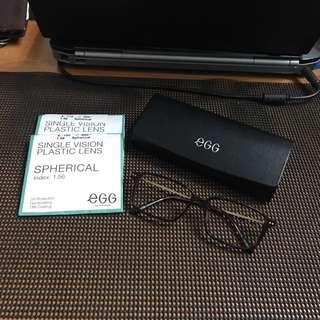 🈹EGG 深啡眼鏡架 連平光鏡眼鏡盒
