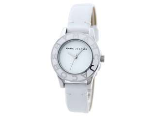 Marc Jacobs Ladies silver mid size Dial leather Band mbm1097