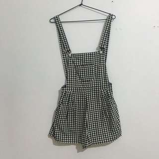 Grandma Funk Houndstooth Overalls