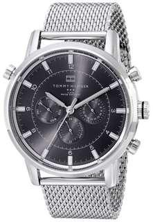 Hilfiger Men's 1790877 Silver-Tone Stainless Steel Watch