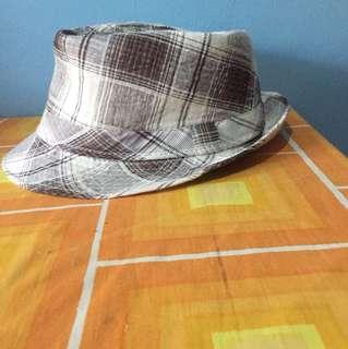 Striped fedora hat