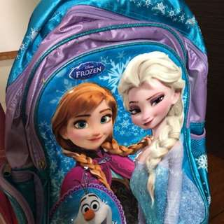 Frozen and Barbie trolley bags