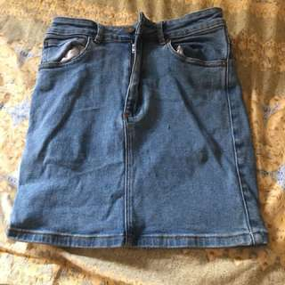 A Brand Denim Skirt