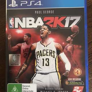 NBA 2K17 game for PS4