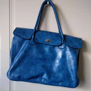 Bright Blue Tote | Vegan Leather
