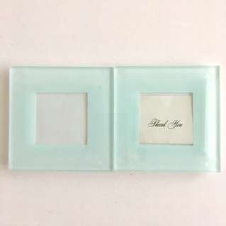 Glass Coaster with picture frame