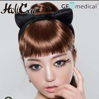 BN Sealed Geolica Holi Cat Sexy Cat Monthly Grey Contact Lens