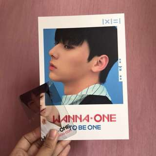 Hwang Minhyun Photocard Wanna One + Transparent Photocard (OFFICIAL) + Sticker Bonus