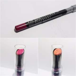 BUNDLE - LA Girl Creme Lipstick in shade Sexy & Pure Ecstasy and LA Girl Lipliner in shade Raspberry