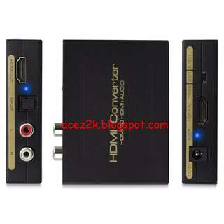 [BN] HDMI Audio Extractor, HDMI to HDMI with Optical Toslink Digital Audio + L/R Stereo Analog Audio Output  (Brand New)