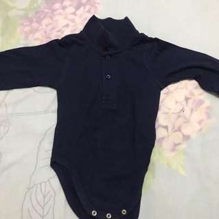 Like new navy blue rompers for 12 months