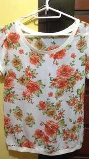 Terranova floral sheer top