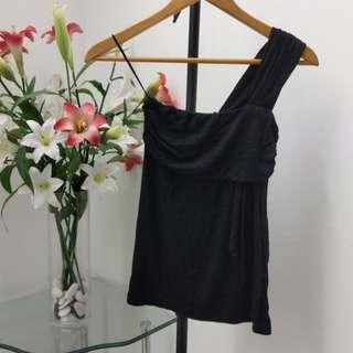 Assymetrical toga drape top