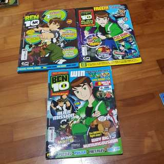 Ben 10 magazines, guidebook and story book