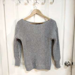 THE FIFTH LABEL Grey Knit Sweater/ Jumper - Size XS