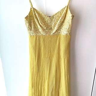 Yellow Sequin Sundress