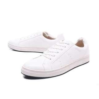 🚚 百搭型男小白鞋-43號-全新