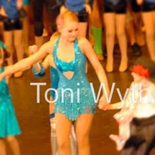 Blue dazzling dance costume