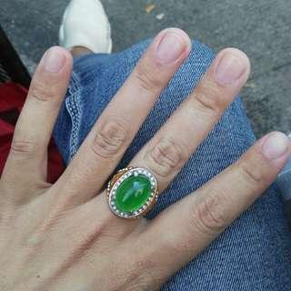 铜戒指,玉髓